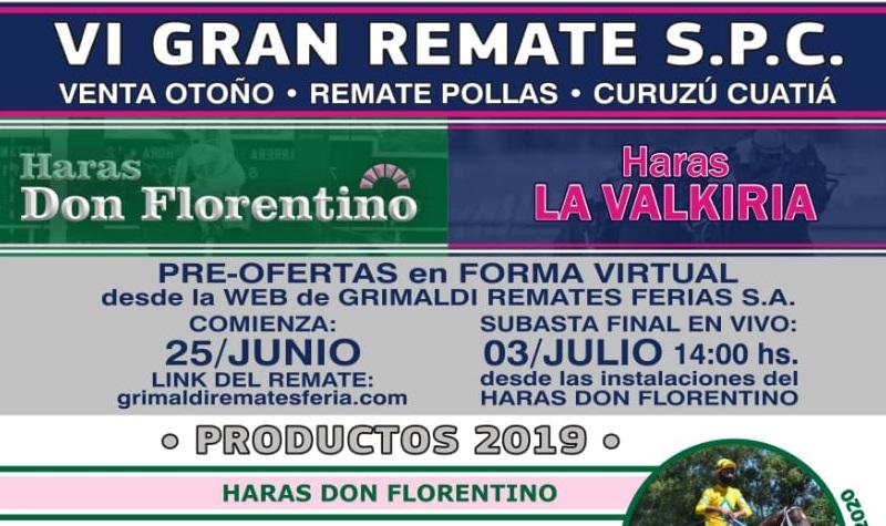 VI Gran Remate de S.P.C. del Haras Don Florentino junto al Haras La Valkiria