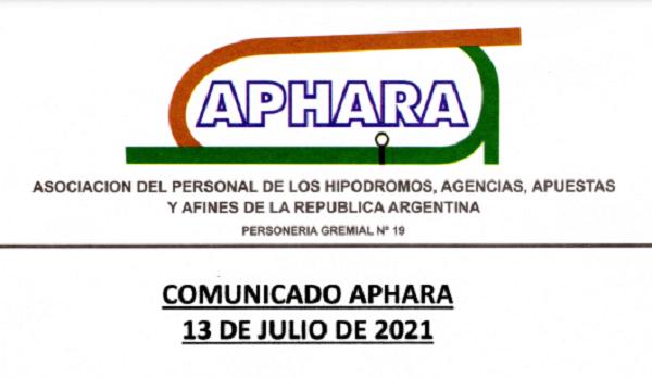 Comunicado Aphara 13 de Julio